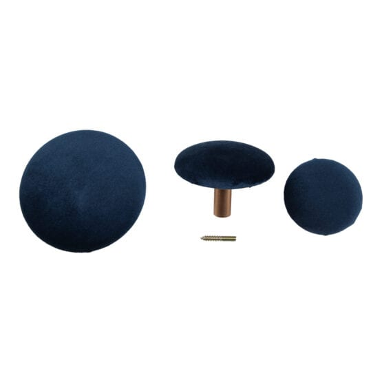 Giza knobs Blå Velour – House Nordic