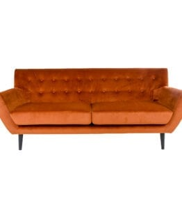 Monte sofa orange velour – House Nordic