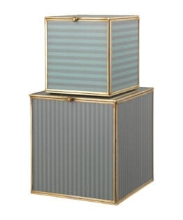 Alfa Glass Box-Seagrass set af 2 stk.