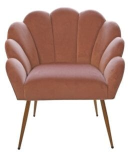 Velour loungestol rosa