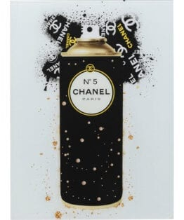 Chanel spray billede i glas